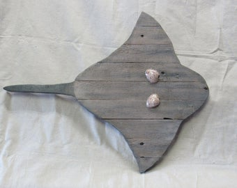 Rustic Pallet Wood Sting Ray Wall hanging