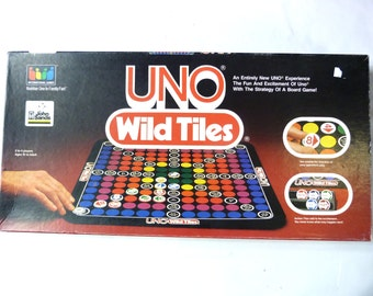 Vintage 1983 Board Game - UNO Wild Tiles - 100% Complete