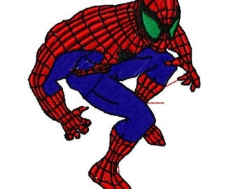Spiderman Embroidery Design, Instant Download, 4x4 Hoop, 6 Formats