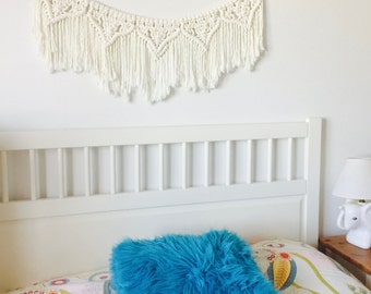 Macrame bunting banner