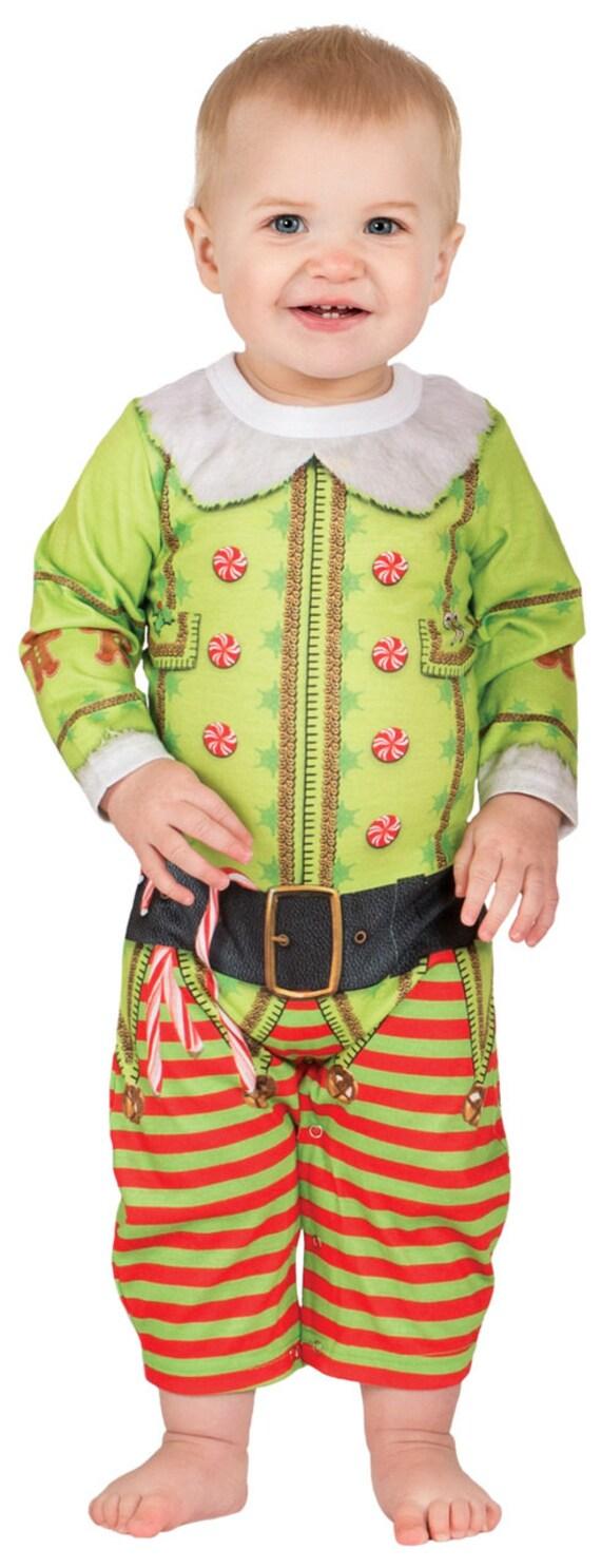 Infant Baby Babies Ugly Tacky Christmas Holiday Xmas X Mas Sweater santa claus reindeer elf elves toys vest tie pattern onesie T Shirt tee