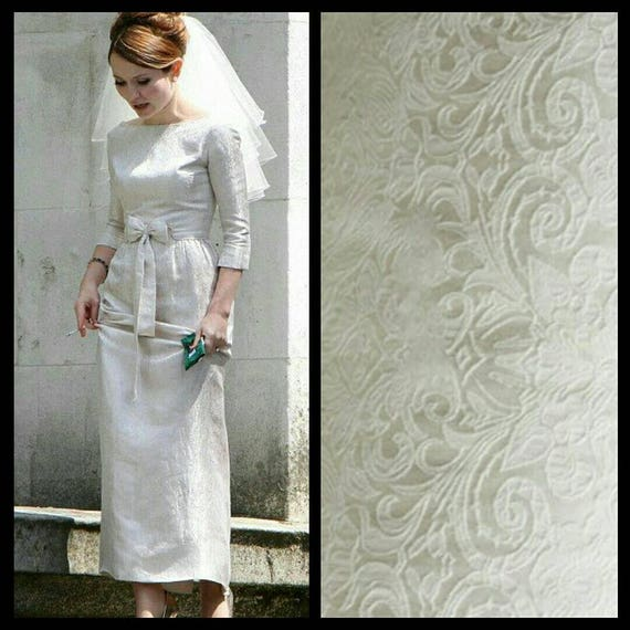 60s Wedding Dress | 1960s Style Wedding Dresses Custom Made 1960s Retro Bow Jacquard Legend White Wedding Dress Evening DressCustom Made 1960s Retro Bow Jacquard Legend White Wedding Dress Evening Dress $520.12 AT vintagedancer.com
