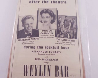 Vintage 1937 After the theatre ad