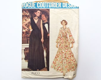 1970s B40 Dress Sewing Pattern : Vogue Couturier Pucci 2959