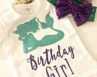 Mermaid birthday shirt, Birthday shirt, mermaid shirt,mermaid outfit , mermaid shirt,birthday girl shirt,birthday girl,mermaid party,mermaid