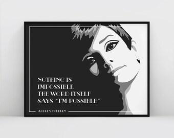 Audrey Hepburn, Audrey Hepburn Wall Art, Audrey Hepburn Quote, Audrey Hepburn Art, Audrey Hepburn Poster, Hepburn, Fashion Printable Quote