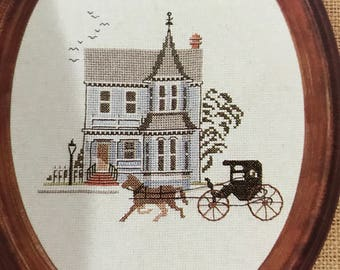 Vintage Counted Cross Stitch Main Street Houses of Yesteryear pattern book