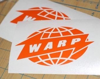 Warp Records Vinyl Sticker   Warp Records Decal