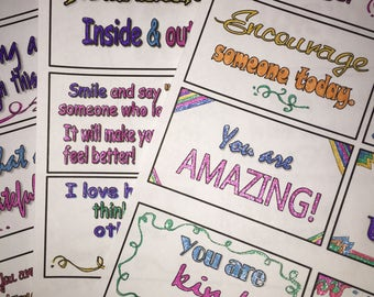 Set 3 Lunch Notes //  Lunch Box Notes // Kid's Lunch Notes // Notes for Your Child // Lunchbox Notes // Motivational Notes // Love Notes