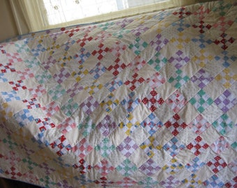 Diagonal Nine Patch Quilt