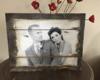 Wood Photo Transfer Barnwood, picture transferred to wood, photo on wood
