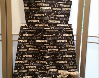 DALLAS COWBOYS APRON with Tiered Ruffle Front