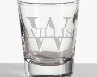 Personalized Engraved Shot Glass- Groomsmen gift, Best Man, Groom Gift, Wedding Favors, Bar Ware, Housewarming, Engraved shot glass