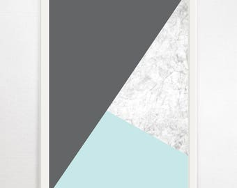 Geometric Art, Abstract Print, Minimalist, Geometric Wall Art, Geometric Print, Modern Art, Contemporary Art, Minimalist Print, Marble Print