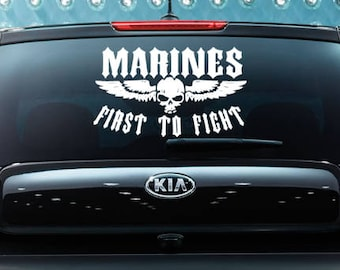 First to Fight Decal,Marines Decal, Marines Pride, Military Mom, Military Decal,Cool Car Decal,Yeti Decal,Tumbler Decal,Military Sticker