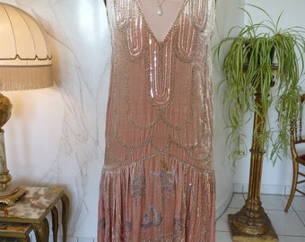 1920 Flapper Dress, Antique Dress, Charleston Dress, 1920, 1920s, ca. 1924