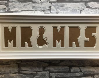 Mr and Mrs personalised photo frame wedding gift