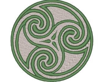 Celtic Triskelion Patch