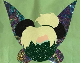 Disney Shirt, tinkerbell, Princess, Icon, Mouse, Head, Ears, Magic Kingdom, Glitter, Trip, Vacation, Kids, Mens, Ladies, Womens, Plus Size