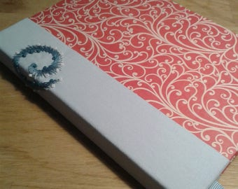 Curl notebook Sketchbook Embroidery Hand made