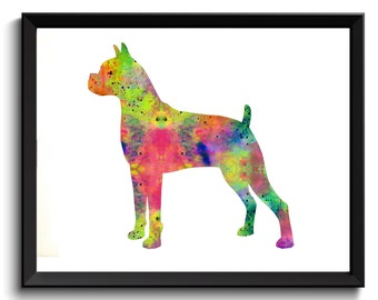 Boxer Watercolor Art, Boxer Dog Breed Print, Boxer Painting, Boxer Acrylic Art, Boxer Artwork, Boxer Dog Art, Boxer Painting, Printable