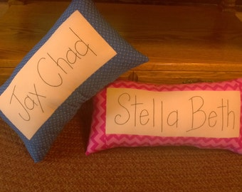 Name pillow.... personalized embroideried pillow