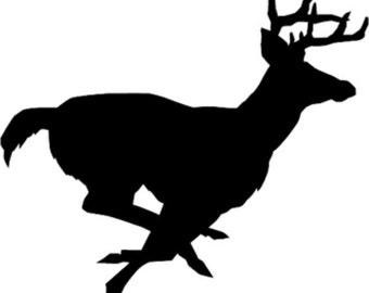 Running Buck Decal