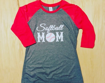 Softball Mom jersey tee ( Avail in variety of colors)