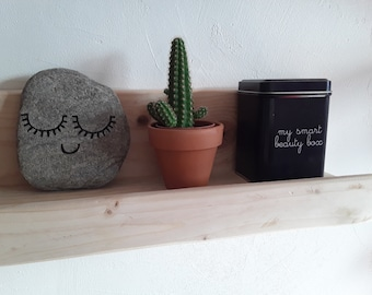 Nature style wooden decoration shelf