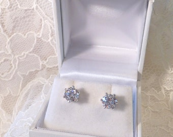 Cubic Zircon Round Earrings
