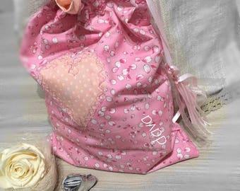 100% cotton bag, handmade, unique applications