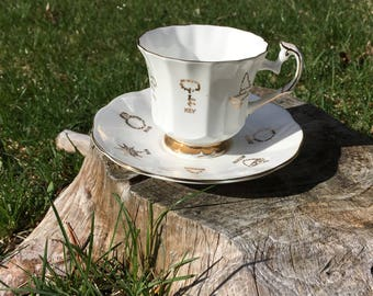 """Vintage Red Rose Tea """"Cup of Fortune"""""""