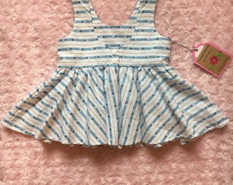 Girls scoop back peplum top size 3/4t