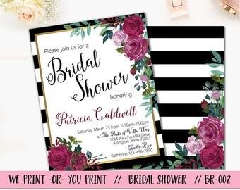 Bridal Shower Invitation, Rose Bridal Shower, Rose Invitation, Bridal Brunch Invitation, Bridal Shower Brunch, Bridal Shower Invite