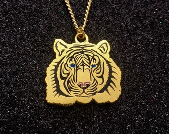 Tiny Tiger Charm Necklace