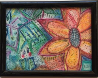 Abstract Oil Flower