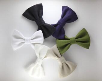 The Forrest - Linen Bow Tie - Six Colours