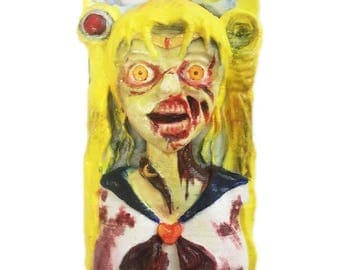 Handmade Horror Zombie Sailor Moon phone case IPhone6/6s/7 plus Samsung Galaxy LG