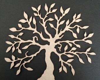 Chipboard Tree with root