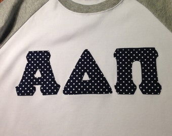 Custom Greek Tee - choose your letters