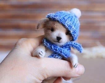 Dog, Puppy, Needle felted Puppy, Needle felted Dog, Needle felted Toy, Cute Puppy, Felt animal, Home decor, Decoration, Christmas Toy