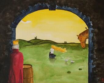 The Goose Girl [postcard cm 10x15]