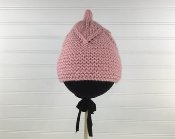 Peach Knit Baby Hat