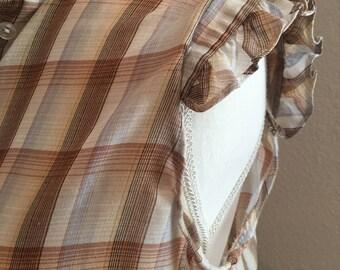 Vintage Shirt Accent Blouse