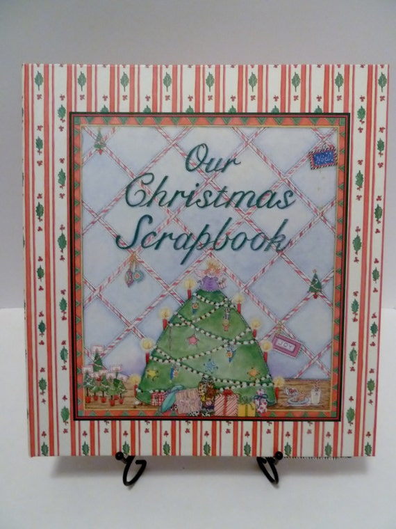 Our Christmas Scrapbook/25 double sided pages/Christmas Tree/Judy Pelikan/Retired Christmas Scrapbook/Illustrations/memories