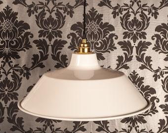 Crispin White Factory Style Enamel Lamp