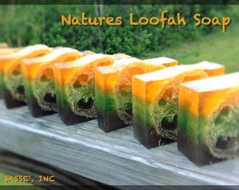 Natures Loofah Soap / Artisan Soap / Fancy Soap / Glycerin Soap / Mothers Day / Gifts for mom / Gifts under 10 / 15% PROMO