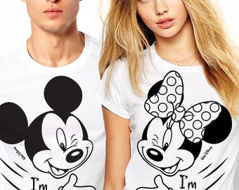 Disney shirts, Graphic Disney tees, Disney Couple Shirts, Matching Couple Disney Shirts, Her Minnie and His Mickey couple shirts, Disney tee
