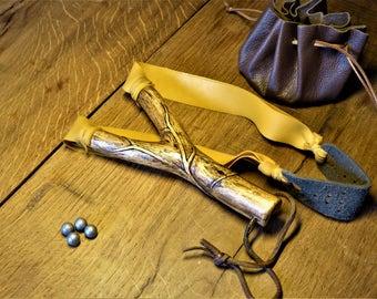 Handcarved Oak Catapult