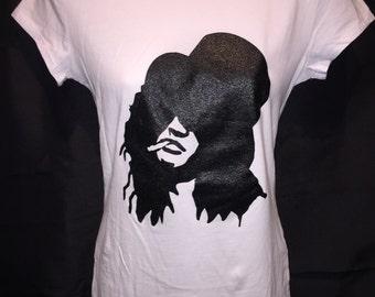 Slash Silhouette  Guns N Roses Women's T-Shirt GNR RockNFemme